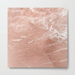 Elegant pink rose gold abstract marble Metal Print