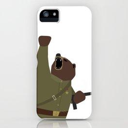 Soviet bear red army infantry ww2 iPhone Case