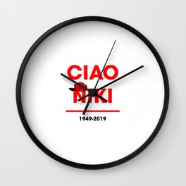 Ciao niki lauda Wall Clock