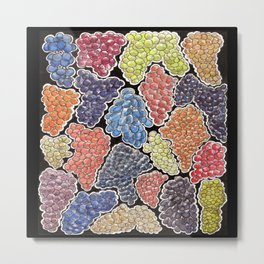 Grapes for wine lovers, gastronomy and restaurants Metal Print