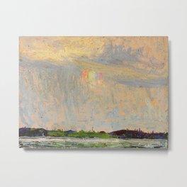 Tom Thomson Misty Sky c. 1913-1914 Canadian Landscape Artist Metal Print