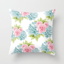 Succulents Flower Dream #1 #decor #art #society6 Throw Pillow