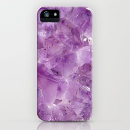 Purple Amethyst Crystal iPhone Case