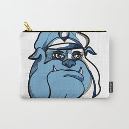 Bulldog Policeman Head Drawing Carry-All Pouch