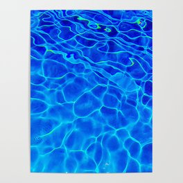 Blue Water Abstract Poster