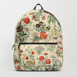 Wildflower Diagram // Fleurs II by Adolphe Millot 19th Century Science Textbook Artwork Backpack