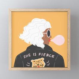 She Is Fierce Framed Mini Art Print