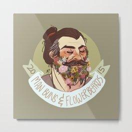 Man Buns and Flower Beards Metal Print