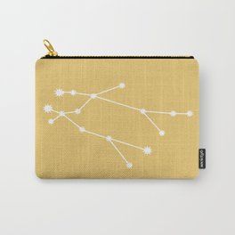 Gemini Zodiac Constellation - Golden Yellow Carry-All Pouch