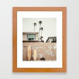 San Diego Surfing Framed Art Print