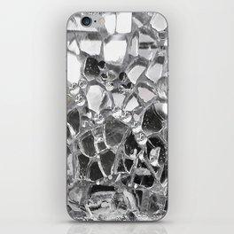 Silver Mirrored Mosaic iPhone Skin