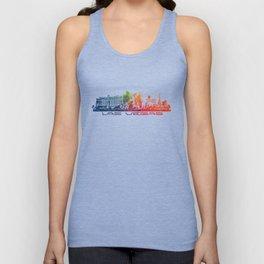 Las Vegas skyline color Unisex Tank Top