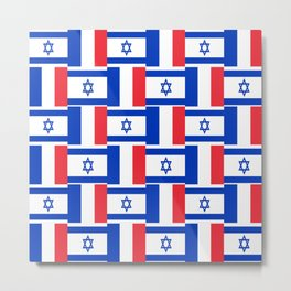 Mix of flag : france and israel Metal Print
