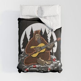 Camping Bigfoot Mountain Hiking Comforters