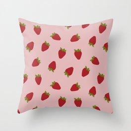 Cute Strawberries Throw Pillow