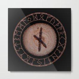 Nauthiz - Elder Futhark rune Metal Print