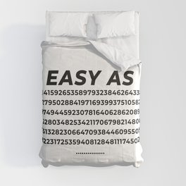 Easy As Pi Numbers Comforters