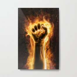 Fire fist Metal Print