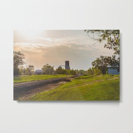 Railroad Tracks, Washburn, North Dakota 1 Metal Print