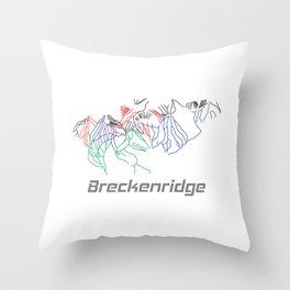 Breckenridge Colorado Ski Pist Map Gift Throw Pillow