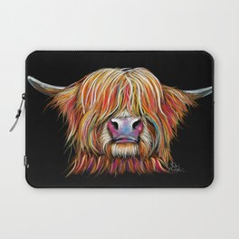 Scottish Highland Cow ' CHARMER ' by Shirley MacArthur Laptop Sleeve