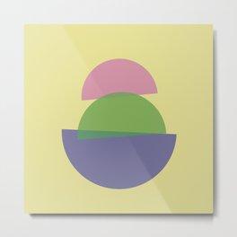 Balance Abstract Figures 1 Metal Print