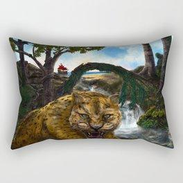 The Jaguar Guardian Rectangular Pillow