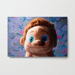 Stuffed Animal Tarzan Portrait Metal Print