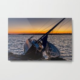 Broken Sailboat Metal Print