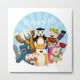 Stampy and his friends Metal Print