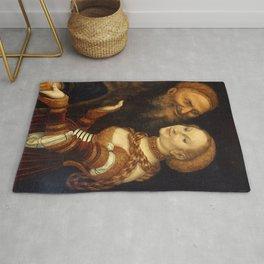 "Lucas Cranach the Elder ""Courtesan and old man"" Rug"