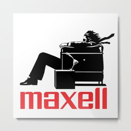 Fashion and decor/acessories art items of Maxell  cassette tapes brand Metal Print