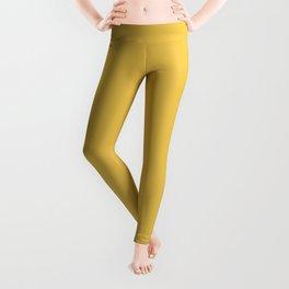 Mustard Yellow Solid Leggings