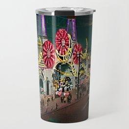 Luna Park Coney Island Amusement Park, New York, New York Portrait Travel Mug