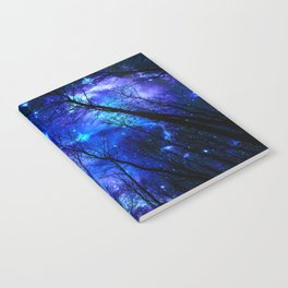 black trees purple blue space copyright protected Notebook