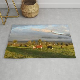 New Zealand Countryside South Island Panoramic Landscape Rug