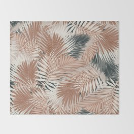 Neutral Palm Leaves / Nomade Mood Throw Blanket