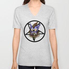 Werewolf Pentagram Halftone Unisex V-Neck