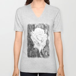 Pink Roses in Anzures 6 Charcoal Unisex V-Neck