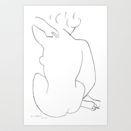 Henri Matisse Seated Nude 1949 Original Artwork - Wall Art, Prints, Posters, Canvas, Tshirts, Men Wo Art Print