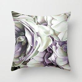 Roses A Tint of Puple Throw Pillow