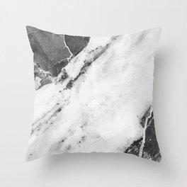 Titan River Black Throw Pillow