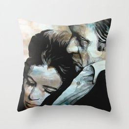 June & Johnny Throw Pillow