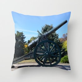 Drobeta heroes statue cannon Throw Pillow