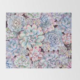succulent garden 3 Throw Blanket