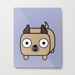 Pitbull Loaf - Fawn Pit Bull with Cropped Ears Metal Print