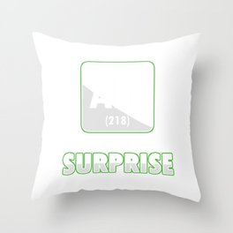 Funny Science Nerd Ah! The Element Of Surprise Throw Pillow