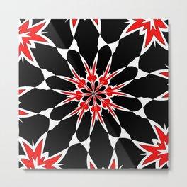 Bizarre Red Black and White Pattern 3 Metal Print