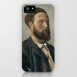 Theodor Kittselsen - Self-Portrait (1891) iPhone Case