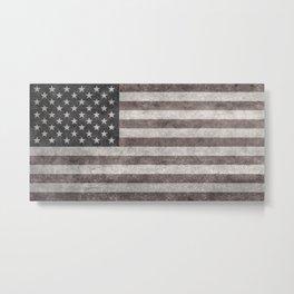 USA flag on hand painted canvas texture Metal Print